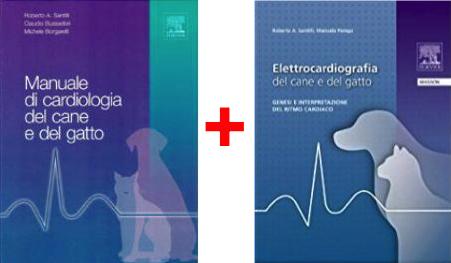 CARDIOLOGIA in PROMOZIONE: 2 Testi ( Santilli ) - Manuale di cardiologia cane e gatto + Elettrocardiografia
