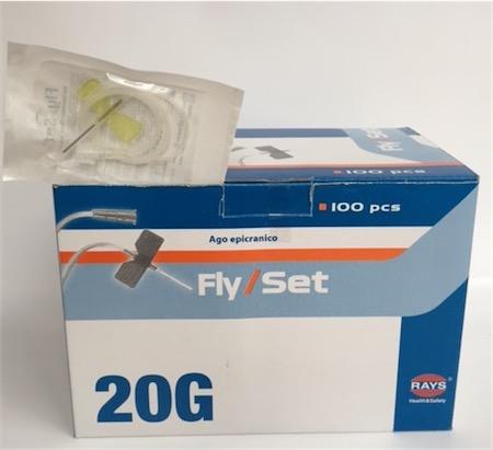 Fly / Set Aghi Epicranici 20 G ( Giallo ) - 200 Pezzi - Rays