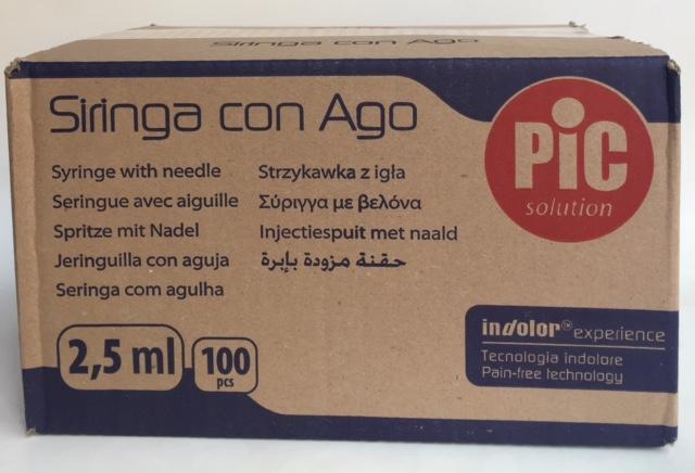 Siringhe PIC 2,5 ml. - Ago 22G - ( 800 Pezzi ) ARTSANA