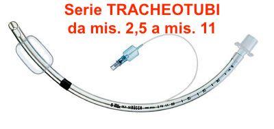 Tracheotubi Cuffiati - Serie completa ( da mis. 2,5 a mis. 11 ) - n.18 pezzi