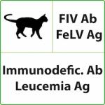 "Test rapidi Veterinaria ICT - "" FIV Ab + FELV Ag "" - nel gatto ( 10 Test ) - LumiQuick Diagnostics"